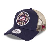 Бейсболка NEW ERA USA FLAG BLUE A-FRAME TRUCKER CAP 60112689