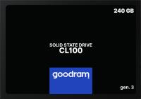 """Goodram SSD CL100 Gen.3 240GB 2.5"""" SATA III 3D NAND TLC (SSDPR-CL100-240-G3)"""